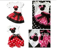 Tiantian--2013 Summer New, Children Girl's 2PC Sets Skirt Suit, Minnie Mouse Skirt/Pants Clothing Suit dots skirt dots pants