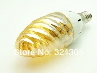 10X2013 new style golden yellow auratus E14 SMD LED Warm White High Power 3W Energy Saving Candle Light Lamp Bulb