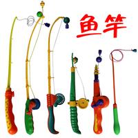 Child fishing rod set magnetic fishing rod plastic toy fishing rod fishing toy swimming toys
