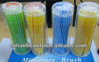 Free shipping wholesale stock makeup brush eyelash tools colorful 100pieces per box microbrush for eyelash miniature brush