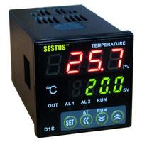 Sestos Dual Digital PID Temperature Controller 2 Omron Relay Output Black D1S-2R-220 +K sensor