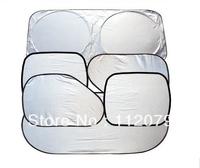 Free shipping NEW  6 x Folding Silvering Reflective Car Window Sun Shade Visor Shield Cover Screen