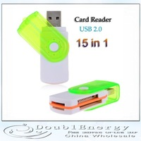 15 in 1 USB 2.0 High Speed TF/Mini SD Card Reader (Assorted Color) + Free shipping