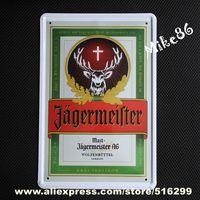 [ Mike86 ] Jagermeister Deer Wine Tin sign Art  wall decor House Cafe Bar Vintage Metal signs A-26 Mix order 20*30 CM