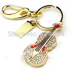 Gold guita usb pendrive diamond usb drive ,Cheap ! New Design Guita USB Drive(China (Mainland))