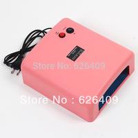 Pink UV Lamp 36W 220-240V Diy Gel Curing Nail Art (EU Plug) Tools with 4pcs 365nm UV Bulb Free Shipping Dropshipping 8334