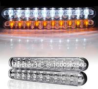 2x 30 LED Car Daytime Running Light White Daytime Running Lamp DC 12V Fog Lamp Driving Day Light +Turn Light 5W TK0022