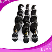 2013 best selling peruvian black hair weft sealer