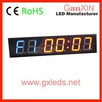 alibaba express GI2B-4R 4 inch 6 digit indoor high brightness crossfit timer
