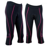 SANTIC Outdoor Sports Womens Ladies Cycling 3D Padded Bike Clothing Bicycle Capri Pants Shorts Tights New Comfortabe