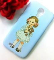 Screen Protector + 17 Designs Kawaii Cute Paper Doll Mate Style Hard Case Cover  for Samsung Galaxy S4 i9500 (SX37)