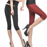 Free Shipping  summer women's elastic pencil pants candy color elastic waist legging capris DY-B556-8010