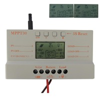 30A MPPT LCD Solar Charge Controller 12V/24V 380W/760W Solar Panel Regulator Auto Work,Hot Sale