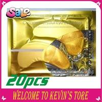New year Crystal Collagen Gold Powder eye mask pilaten sleep mask sleeping eye patch 20pcs=10package/FREE SHIPPING
