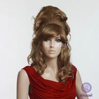 New 20136 Free shipping women's  long Curly wig,Blonde Wigs 100% Kanekalon