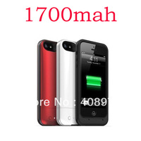 Full tested 1700mAh portable External Backup pack Battery Charger juice Case for Apple iPhone 5 Power Bank with retail box