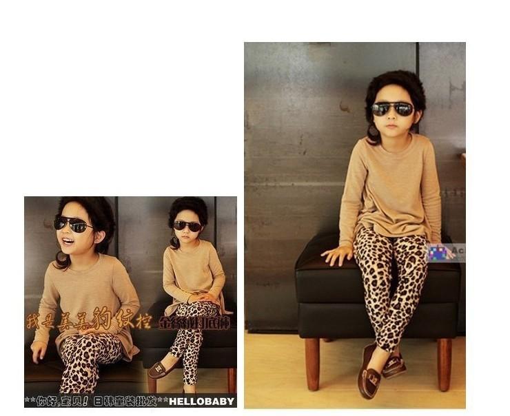 1Pcs Baby Girls' Leggings Fashion Leopard Print For 1-5yrs Children Pants Kids Fall Winter Clothing Warm Trousers Free Shipping(China (Mainland))