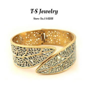 Crossfit Real From India 2014 Offer Bangles Jewelry Pulseiras Fashion Cutout Flower Bangle Female Brand Name Brief Free Shipping