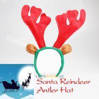 2014 Fashion Santa Reindeer Antler Hat Deer Horn Christmas Headband Cap Free Shipping New Gift Xmas