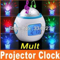 Color Change Star Sky Digital Projection Alarm Clock Backlight Music Projector