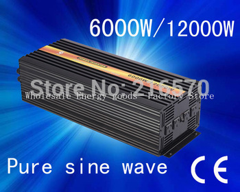 6000w home power inverter dc 12v to ac 100v CE&ROHS Approved with C&ROHS((CTP-6000W)