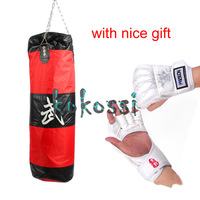 Free Gift! High Quality 90cm MMA Boxing Heavy Punching Bag With Hook (Empty) With Muay Thai  Boxing Gloves White Free Shipping
