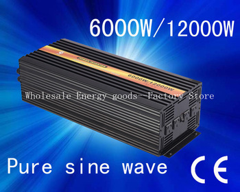 Free shipping!48V to 110V 6000W pure sine wave power inverter invertor inversor CE&ROHS Approved(CTP-6000W)