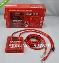 New Power Voltage Volt Stabilizer Regulator Fuel Saver + 3 Earth Ground wire Red
