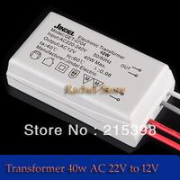 Free shipping 4pcs AC 220V to12V 40W LED Driver Electronic Transformer Power Supply for 12V LED light bulbs for halogen bulbs