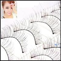 Free Shipping Three trees 217 chiasmatype Handmade false eyelashes Natural Long 10 pairs Full Strip lashes