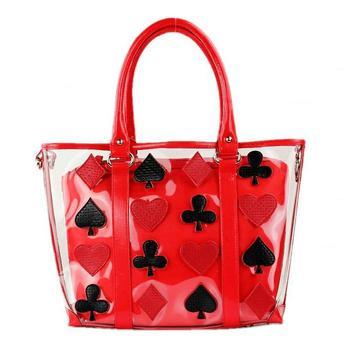 TB transparent jelly patchwork handbag messenger bag female bags