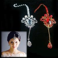 Fashion Wedding jewelry accessories rhinestone drop tassel bridal hair accessory free shipping 082