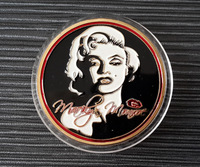 [C0045]Promotion! new coin,5pcs/lot , free shipping for 1 oz ounce troy 999 fine Gold plated Marilyn Monroe fly kiss metal coins
