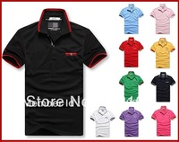 2013 NEW men shirt short sleeve plain men shirts, men polo shirt 8907# lowest price  Free shipping