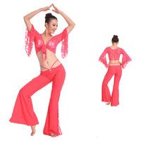 unique costumes outfit Dance clothes dance india belly dance costume set culottes lace 2 pieces top pant
