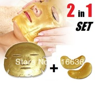 3 combos Gold Bio Crystal Collagen Facial + Eye Mask Patch Anti-aging Face anti-winkle anti eye bags rejuveniting LOT 20p
