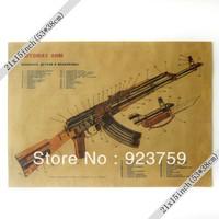 XXL Vintage Wall  Avtomat Kalashnikov Modernizirovannyi Poster 21x15 inch Paper Poster