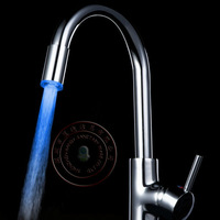 LD8002-A6 High quality Bathroom Sink Chrome Finish Single Handle One Hole Basin Faucet single blue Tap Free Shipping