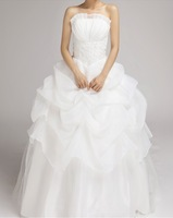 2013 Newest style! Lovely off the shoulder bride wedding sweet Strapless princess wedding dress Free shipping
