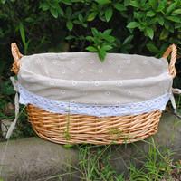 Liubian customize single debris storage basket storage basket grey hemp bread basket fruit basket