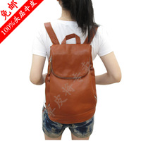 Free shipping 2014 Rocher first layer of cowhide backpack female genuine leather backpack simple fashion backpack