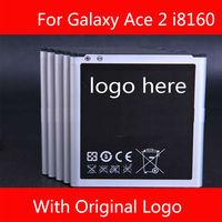 Wholesale Original Logo Battery for Samsung Galaxy S3 mini I8190 Galaxy Ace 2 I8160 Galaxy S Duos S7562  Free Shipping 50pcs/lot