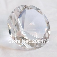 customized crystal 80mm diamond with 3d laser or engraved names as wedding souvenirs
