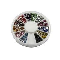 1200 Pcs 2 Color 2mm Nail Tools Nail Art Manicure Glitter Rhinestones Tips Decoration