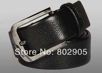 luxury Belt Genuine Leather High quality pin buckle vintage belts for men black brown colors