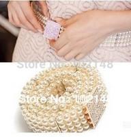 Hotsale Elegant Rhinestone & Pearl Belly Chain Noble  Decoration Belt free shipping