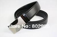 2014 Fashion designer Mens metal steel buckled dress belt Leather Genuine vintage strap Belts For jeans pants 120cm