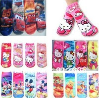 12pairs/lot Cartoon Animal children girl sneaker socks boy's athletic sport socks kid foot cover booties,free shippping