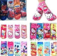 12pairs/lot Cartoon Animal children girl sneaker socks boy's athletic sport socks kid foot cover booties,free shippping
