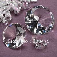 free shipping,Cute 40mm diamond,crystal glass diamond for wedding decoration